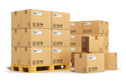 shipping companies warehouse packages